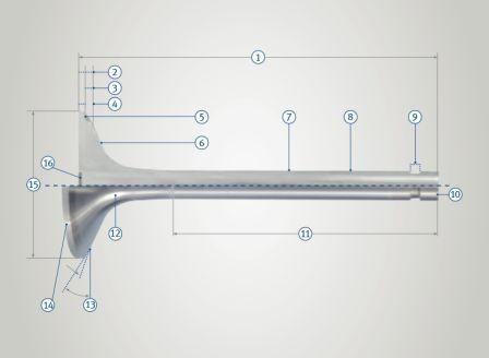 Auslasventil 31,5x8x113mm 45°