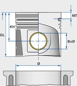 Kolben 87,50mm =+0,50mm