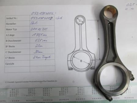 Pleuelstange 3,0ltr V6